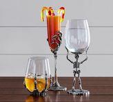 Pottery Barn Skeleton Wine Glass