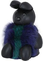 MCM Labbit Leather & Fox Fur Shoulder Bag