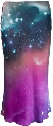 Pinko Space Print Midi Skirt