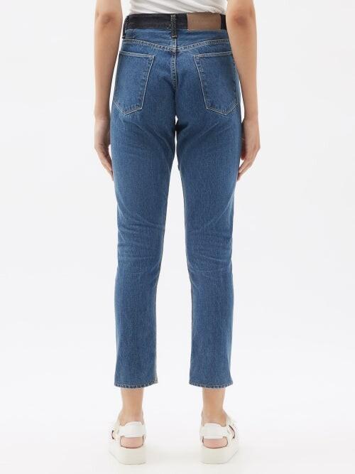 Thumbnail for your product : Kuro Monster Patchwork Slim-leg Jeans - Denim