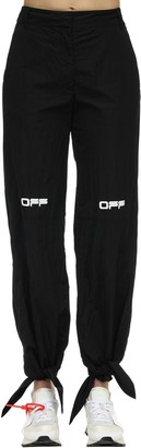Off-White Tied Ankles Nylon Pants