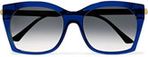 Thierry Lasry Glazy square-frame acetate and metal sunglasses