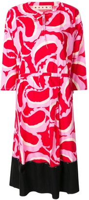 Marni printed midi dress