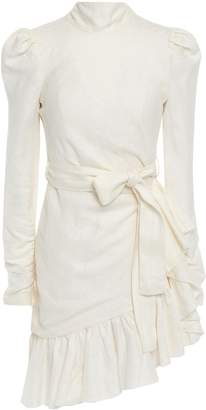Zimmermann Open-back Bow-detailed Linen Mini Dress