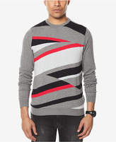 Sean John Men's Big and Tall Geometric Intarsia Sweater