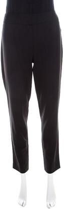 Escada Black Stretch Wool Blend High Waist Tina Trousers M