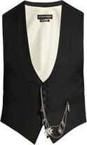 Alexander McQueen Pocket chain-embellished waistcoat
