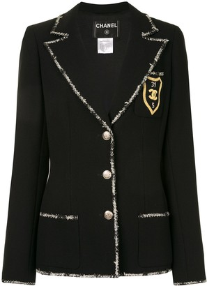 Chanel Pre Owned 2005 Emblem Patch Single-Breasted Blazer