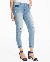 White House Black Market Curvy Distressed Skinny Crop Jeans