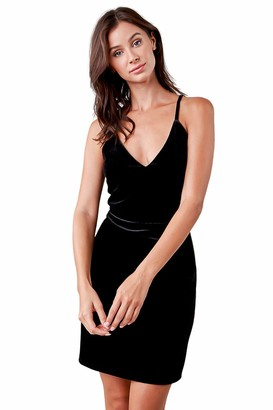 Sugar Lips Sugarlips Women's LACE Back Velvet Bodycon Dress