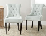 The Well Appointed House Gigi Light Blue Velvet Tufted Dining Side Chair-Set of Two