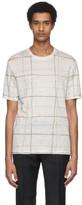 Ermenegildo Zegna White Linen Plaid T-Shirt
