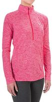 Famous Brand UA Tech Twist Shirt - Zip Neck, Long Sleeve (For Women)