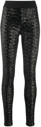NO KA 'OI Sequin Embroidered Elasticated Leggings