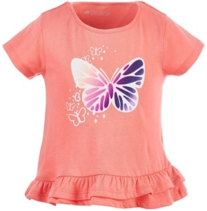 Ideology Toddler Girls Graphic Ruffle-Hem Cotton T-Shirt, Created for Macy's