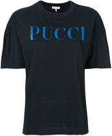 Emilio Pucci gathered shortsleeves logo T-shirt
