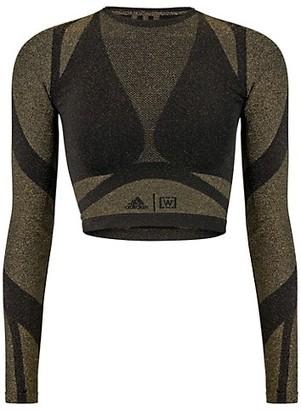 Wolford x Adidas Studio Motion Long-Sleeve Lurex Top