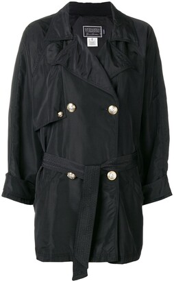 Versace Pre-Owned 2000's Double-Breasted Loose-Fit Coat