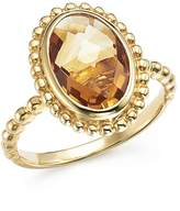 Bloomingdale's Citrine Oval Beaded Ring in 14K Yellow Gold - 100% Exclusive