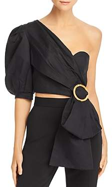 Acler Glendale Draped Bustier Crop Top