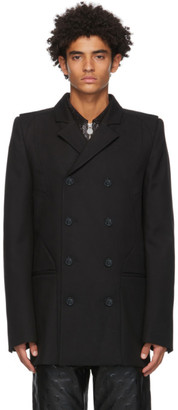 Marine Serre Black Long Tailor Coat