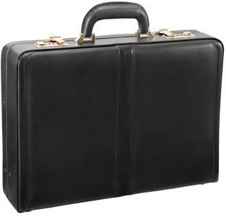 McKlein Reagan Leather Attache Case - Black