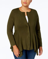 Alfani Plus Size Handkerchief-Hem Cardigan, Created for Macy's