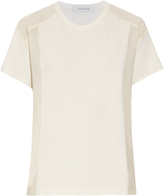 Cédric Charlier Contrast panels short-sleeved top