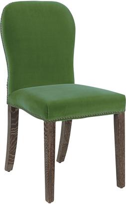 OKA Stafford Velvet Dining Chair - Putting Green
