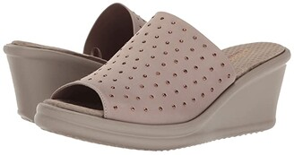Skechers Rumblers - Silky Smooth (Taupe) Women's Shoes