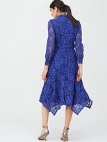 Very Lace Shirt Midaxi Dress - Blue