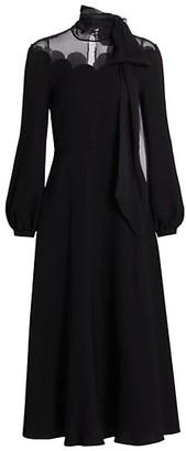 Valentino Cady Couture Tieneck Silk Midi Dress