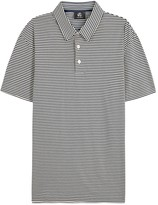 Ps By Paul Smith Navy Striped Cotton Polo Shirt