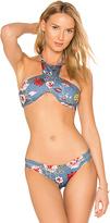 Beach Riot X REVOLVE Emma Bikini Top in Blue. - size L (also in M,S,XS)