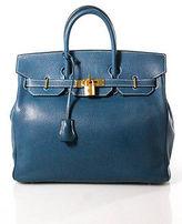 Hermes Blue Thalassa Chevre de Coromandel 32 cm Special Order HAC Birkin Handbag