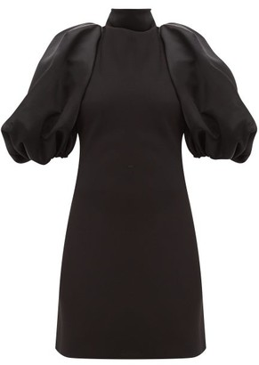 Ellery Epic Saga Detachable-sleeve Halterneck Mini Dress - Womens - Black