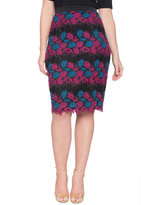 ELOQUII Plus Size Studio Lace Pencil Skirt
