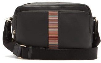 Paul Smith Signature-stripe Leather Cross-body Bag - Black