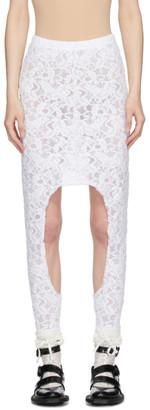 Comme des Garcons White Lace Skirt