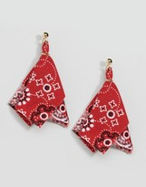 Asos Limited Edition Bandana Stud Earrings