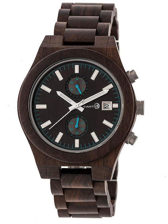 Earth Wood Castillo Unisex Brown Bracelet Watch-Ethew5102