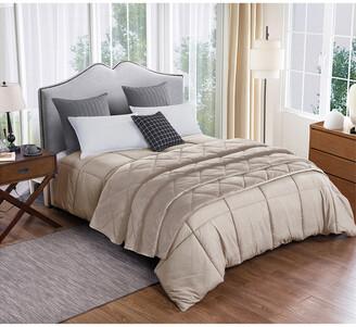 St.James Home St. James Home Microfiber Comforter And Velvet Blanket Set