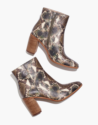 Madewell The Greer Boot in Snake Embossed Leather