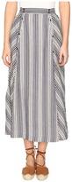 BB Dakota Norman Varigated Stripe Button Front Skirt