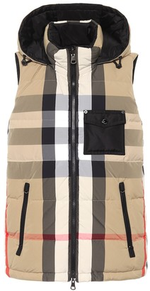Burberry Reversible checked hooded down vest