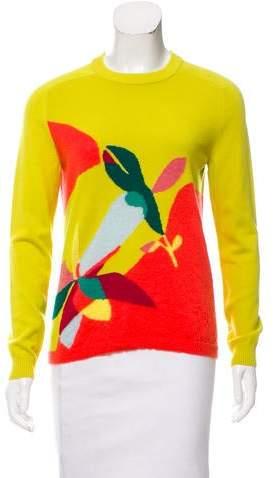 DELPOZO Intarsia Wool Sweater