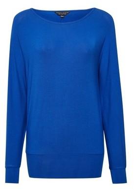 Dorothy Perkins Womens Blue Batwing Sleeve Top