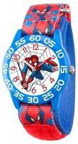 Marvel Boys' Marvel's Ultimate Spider-Man Blue Plastic Time Teacher Watch - Red