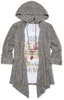 Knitworks Knit Works 3-pc. Hooded Cozy, Graphic Tank Top and Necklace - Girls 7-16
