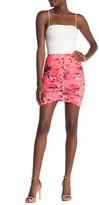 Free Press Printed Mesh Ruched Skirt